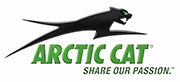 Black and Green Arctic Cat Logo.